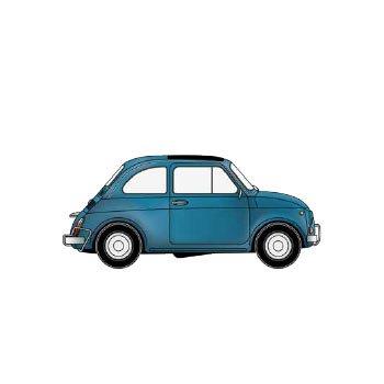Fiat 500 rysunek
